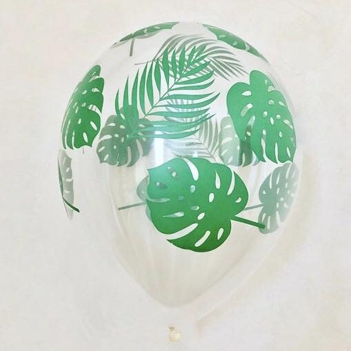 "BALLOON BAR - TROPICAL PALM FRONDS 11"", Balloons, QUALATEX - Bon + Co. Party Studio"
