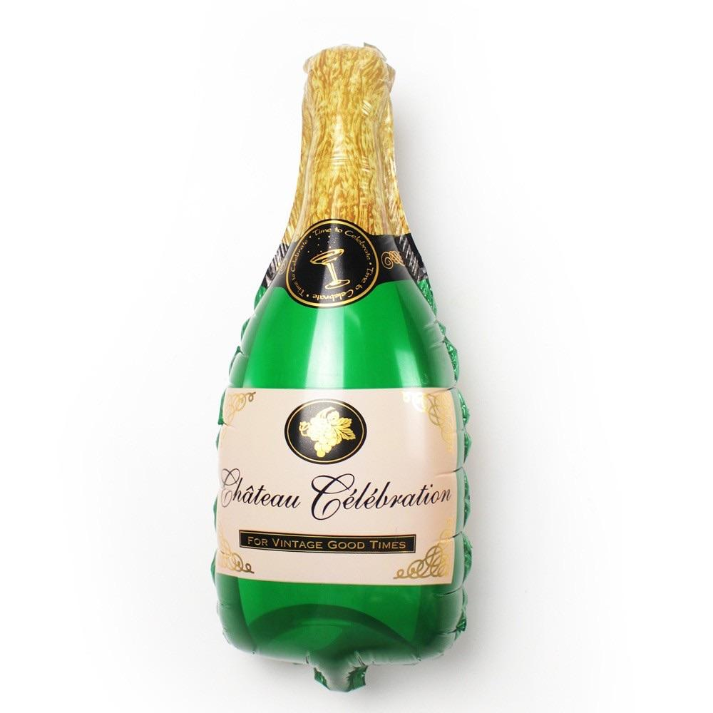 BALLOONS - BEVERAGE BOTTLE CHAMPAGNE GREEN, Balloons, Anagram - Bon + Co. Party Studio