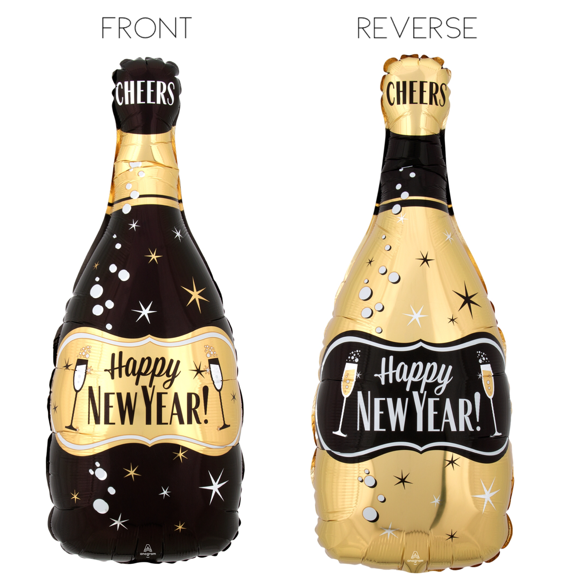 BALLOONS - BEVERAGE BOTTLE CHAMPAGNE HAPPY NEW YEAR