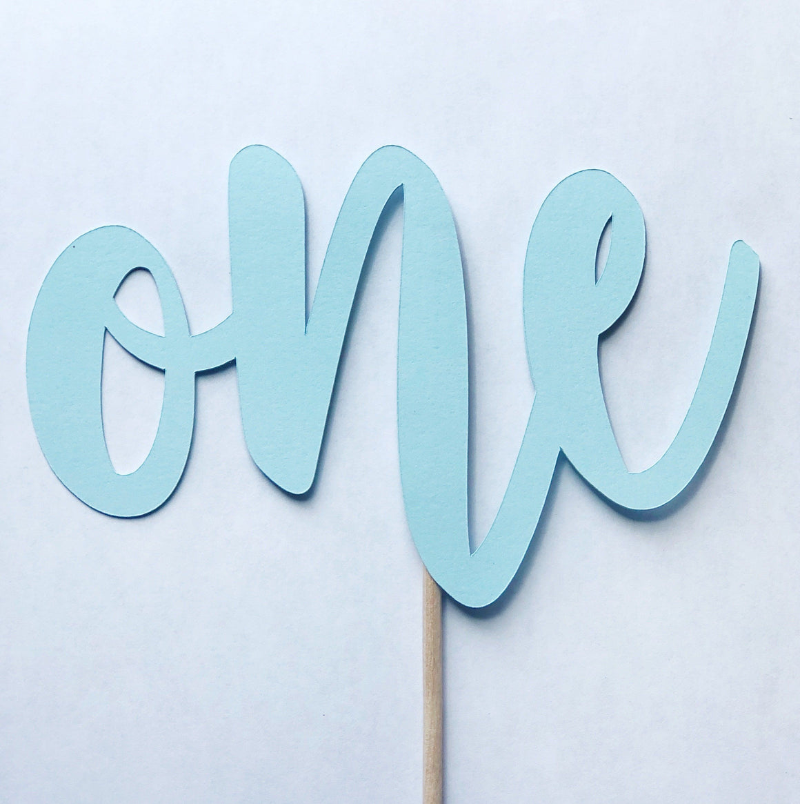 CAKE TOPPER - ONE MATTE BLUE, Picks + Toppers, BON + CO - Bon + Co. Party Studio