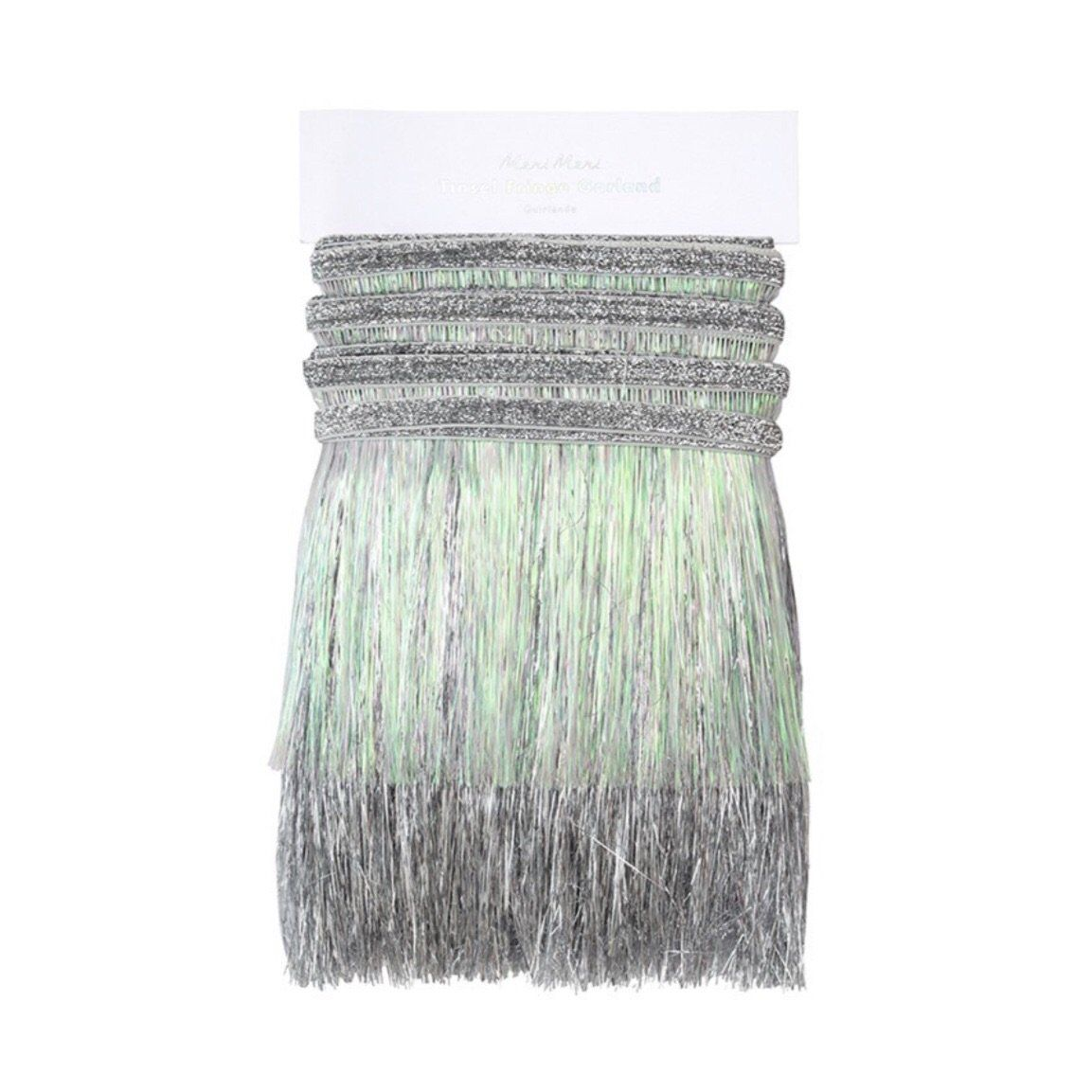 FRINGE GARLAND - SILVER IRIDESCENT, Tassel Garland, Meri meri - Bon + Co. Party Studio