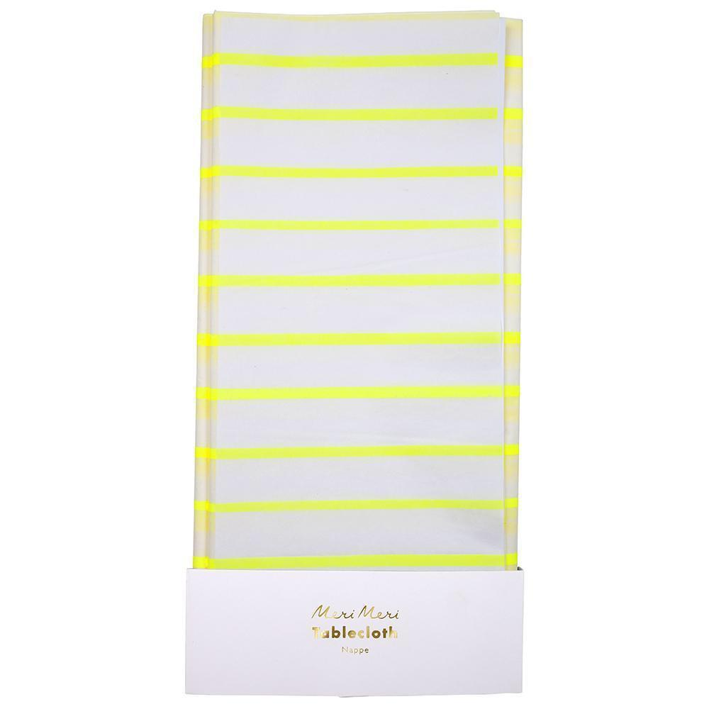 TABLECOVER - YELLOW STRIPE, tablecovers, MERI MERI - Bon + Co. Party Studio