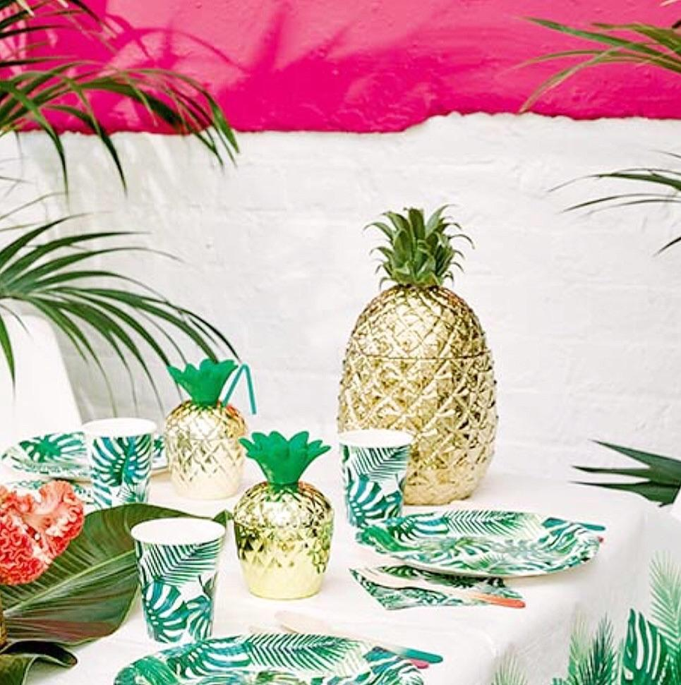 CUP - TROPICAL PALM LEAF, Cups, TALKING TABLES - Bon + Co. Party Studio