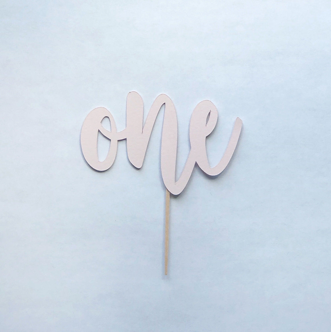 CAKE TOPPER - MINI ONE MATTE, Picks + Toppers, BON + CO - Bon + Co. Party Studio