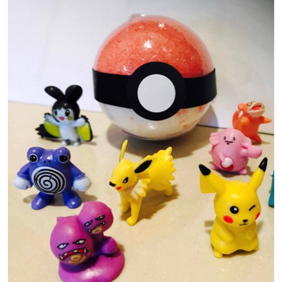 BATH FIZZY - SMALL SURPRISE TOY POKEBALL, BATH, Crafted Bath - Bon + Co. Party Studio