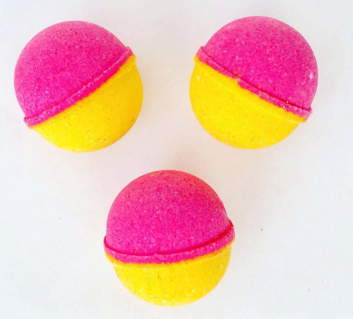BATH FIZZY - COLOURBLAST SMALL TUTTI FRUTTI PINK LEMONADE, BATH, Crafted Bath - Bon + Co. Party Studio