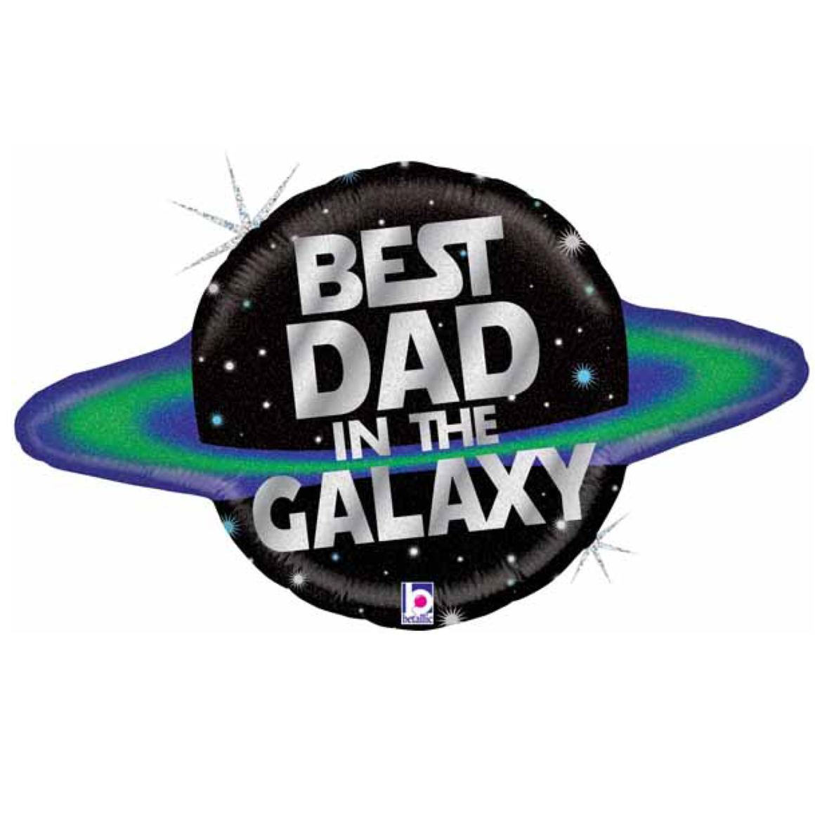 BALLOONS - GALACTIC DAD HOLOGRAPHIC