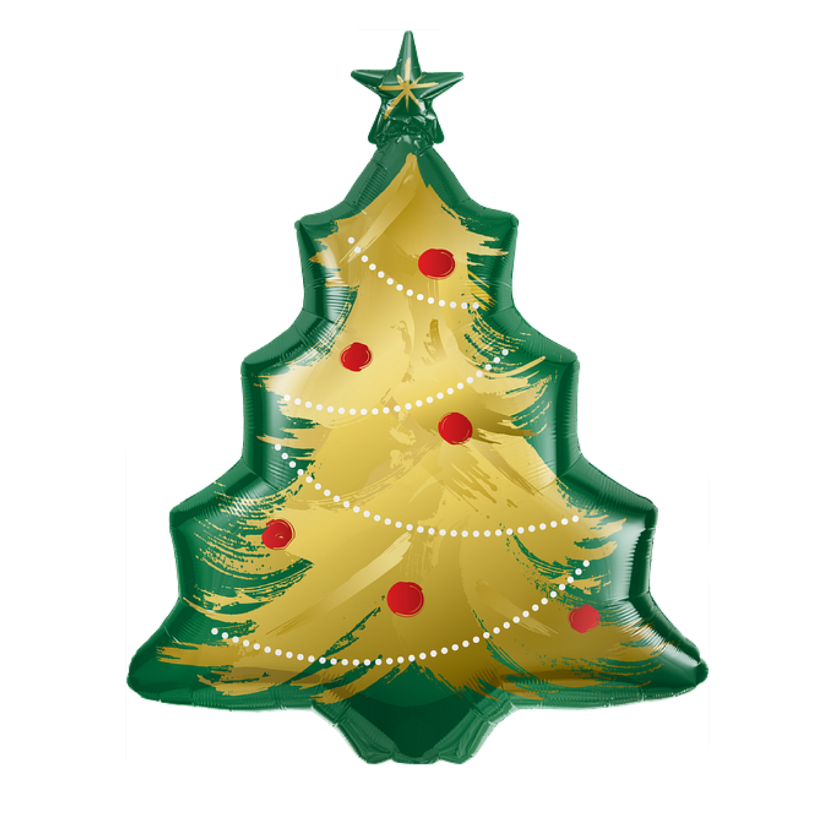 BALLOONS - CHRISTMAS TREE GOLD BRUSHED