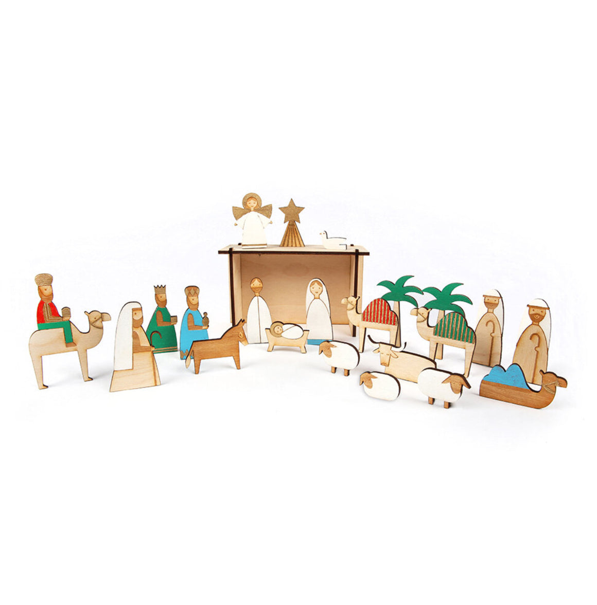 ADVENT CALENDAR - WOODEN NATIVITY SCENE
