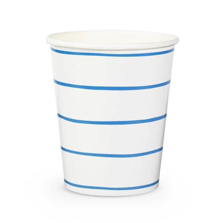 CUPS - FRENCHIE STRIPE COBALT, CUPS, Daydream Society - Bon + Co. Party Studio