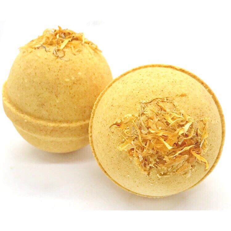 ARTISAN BATH BOMB - YELLOW CLAY + CALENDULA, BATH, Crafted Bath - Bon + Co. Party Studio