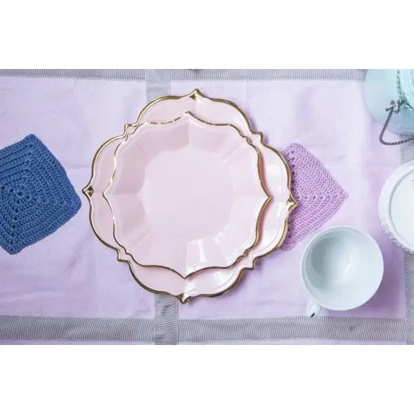 PLATES - LARGE LUNCHEON SCALLOPED BLUSH