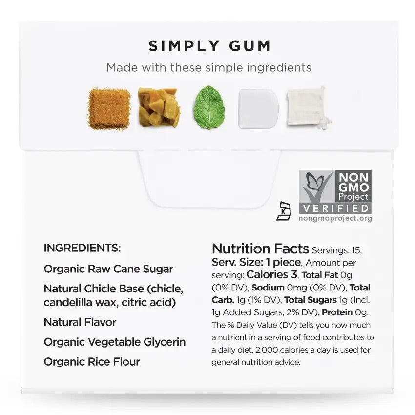 NATURAL CHEWING GUM - NATURAL SPEARMINT