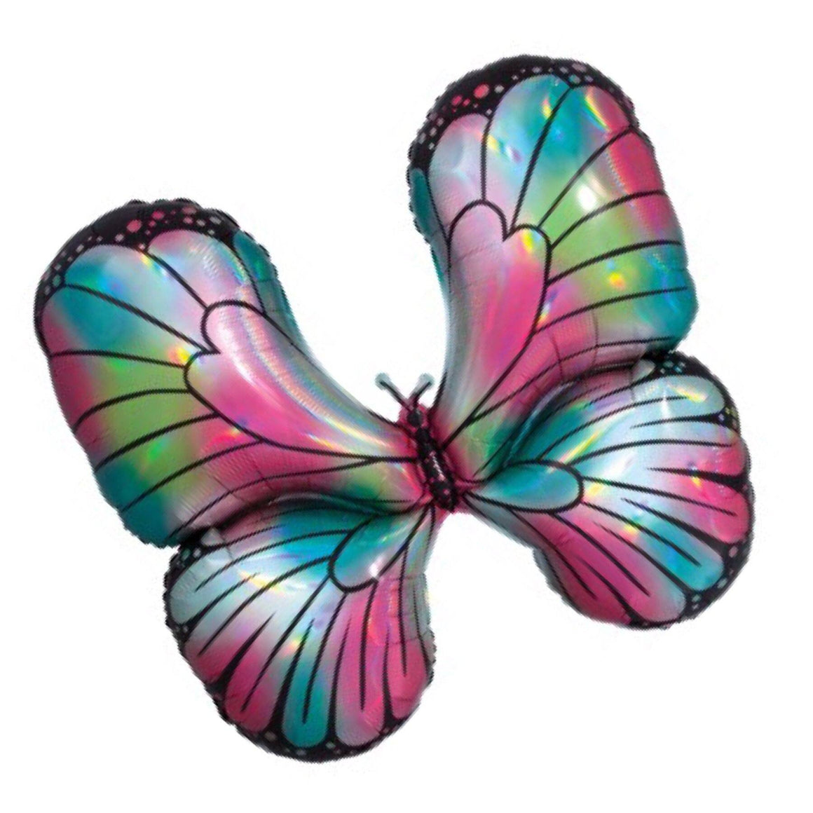 BALLOONS - ANIMAL BUTTERFLY HOLOGRAPHIC, Balloons, Anagram - Bon + Co. Party Studio