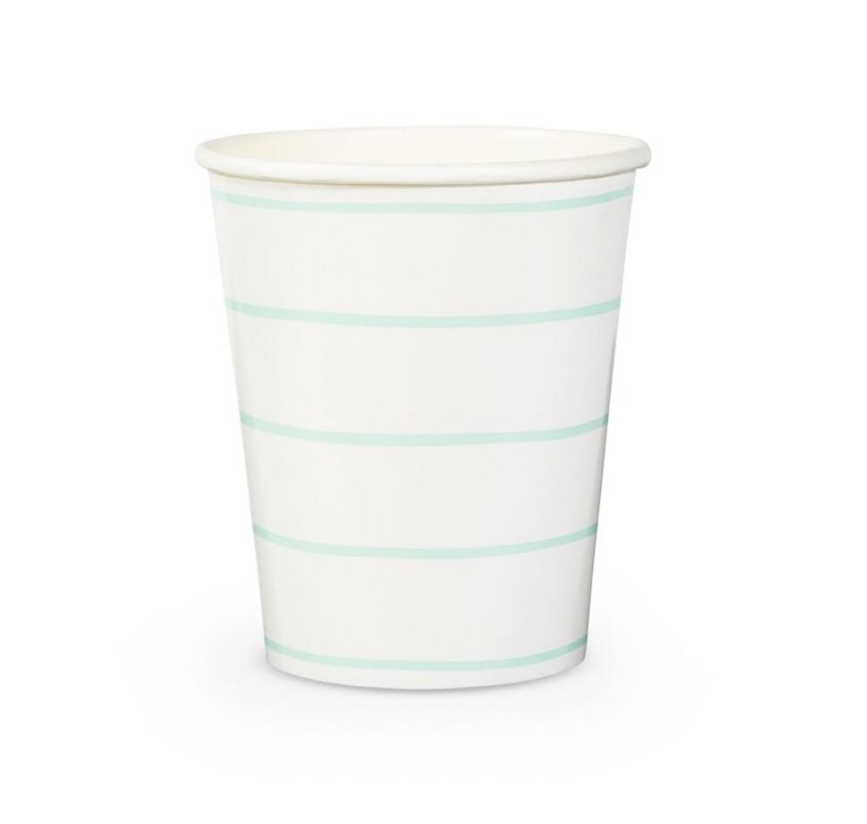 CUPS - DAYDREAM SOCIETY FRENCHIE STRIPES MINT, CUPS, Daydream Society - Bon + Co. Party Studio