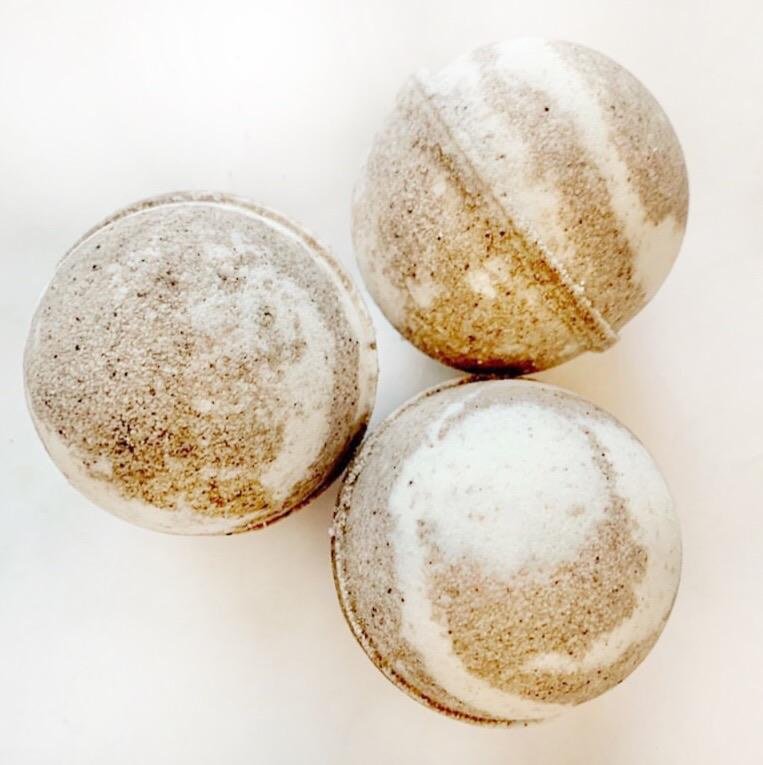 ARTISAN BATH BOMB - TOASTED MARSHMALLOW, BATH, Crafted Bath - Bon + Co. Party Studio