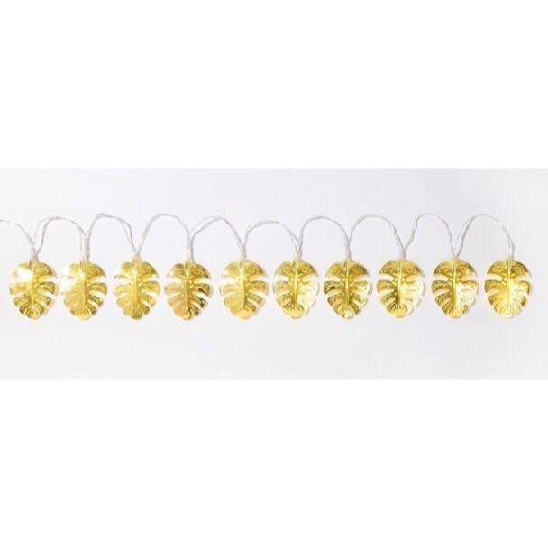 LIGHTS - EMPORIUM GOLD METAL LEAF STRING LIGHTS