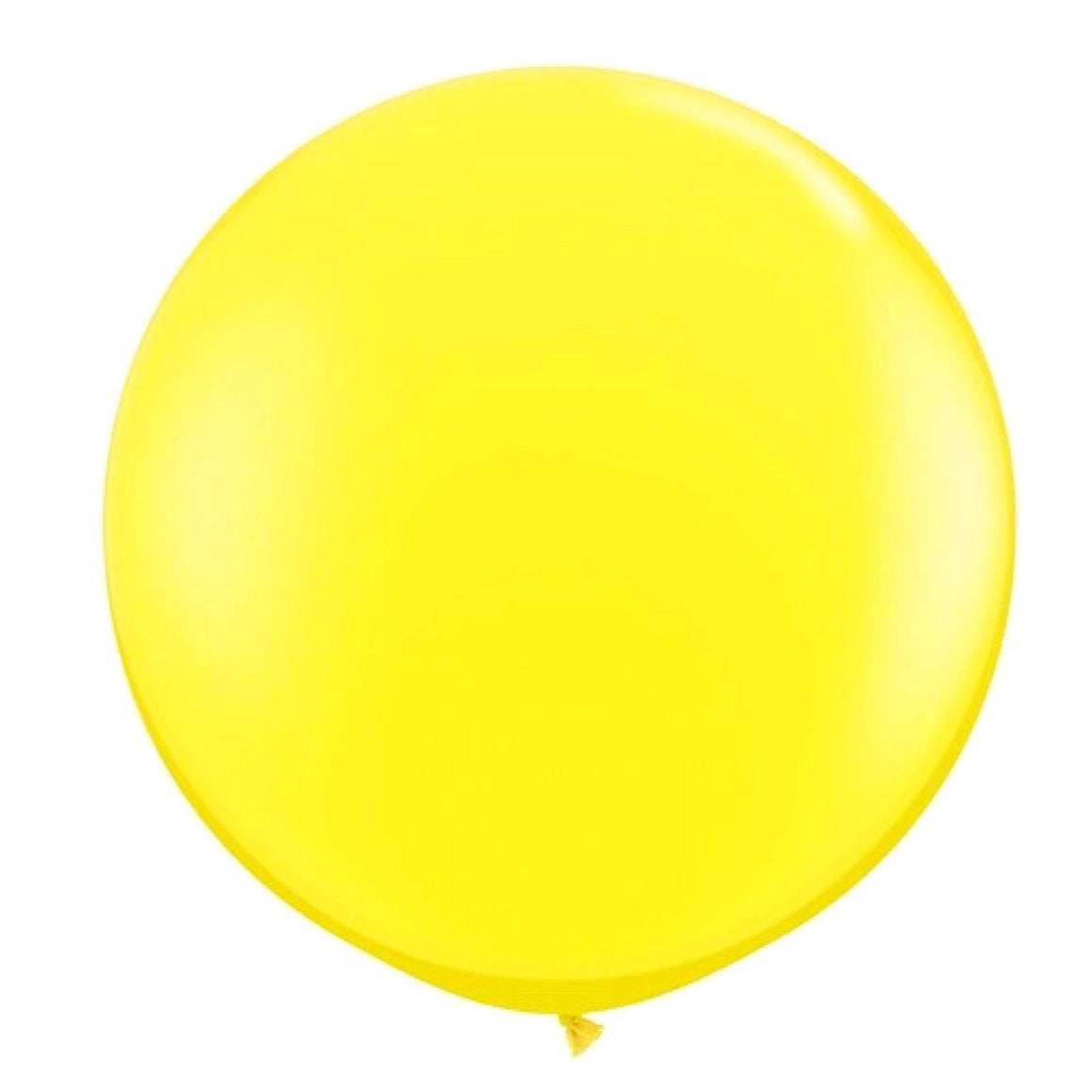 "BALLOON BAR - 36"" JUMBO ROUND BRIGHT YELLOW, Balloons, QUALATEX - Bon + Co. Party Studio"