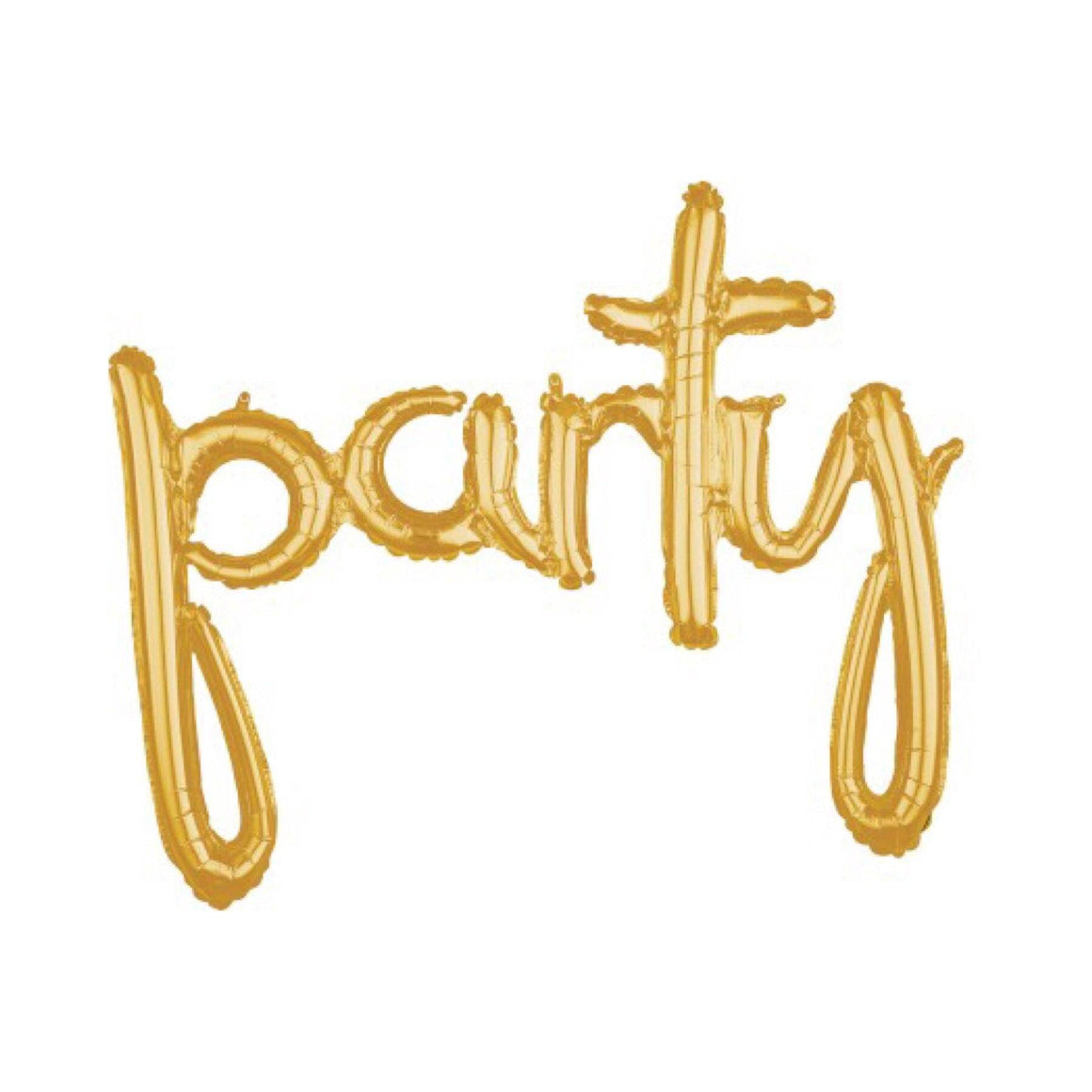 BALLOONS - SCRIPT GOLD PARTY, Balloons, Anagram - Bon + Co. Party Studio