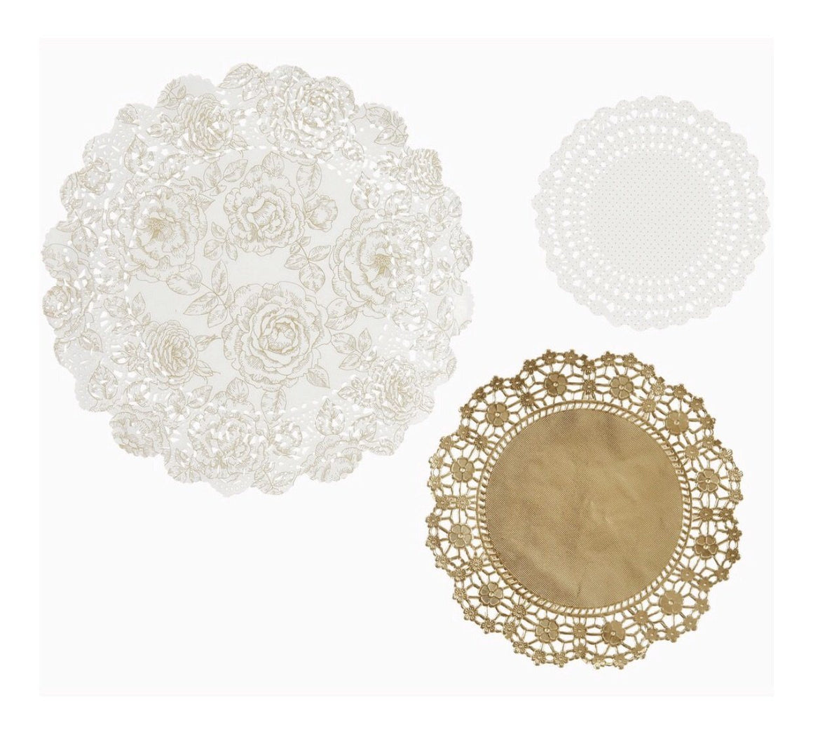DOILIES - PARTY PORCELAIN GOLD TALKING TABLES, EXTRAS, TALKING TABLES - Bon + Co. Party Studio