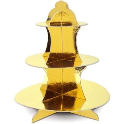 TREAT STAND - METALLIC GOLD