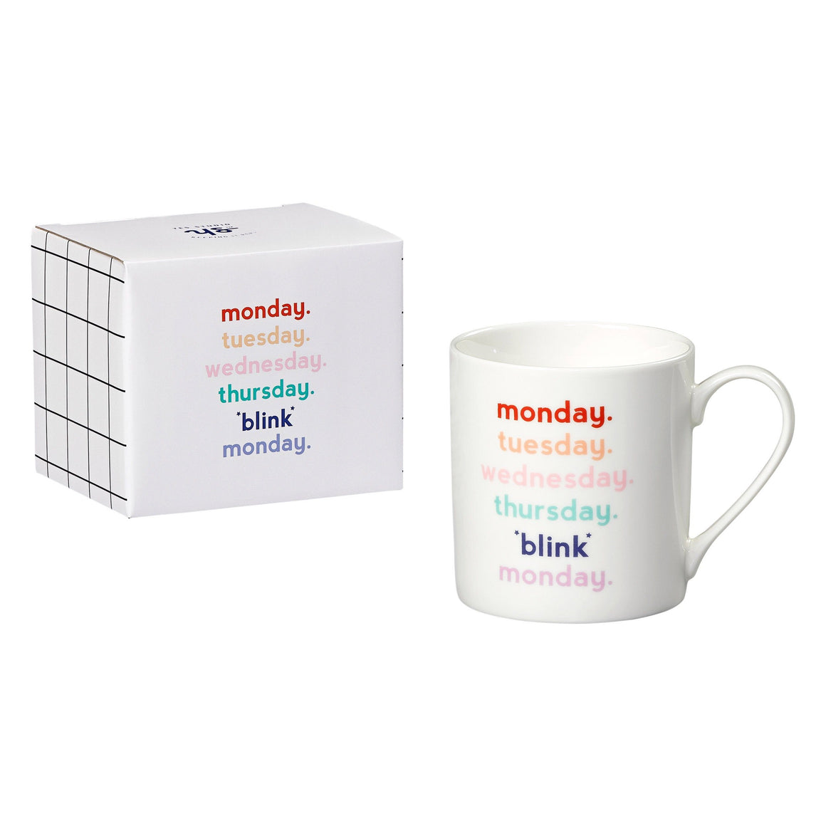 DRINKWARE - MUG MONDAY BLINK, Drinkware, Wild & Wolf - Bon + Co. Party Studio