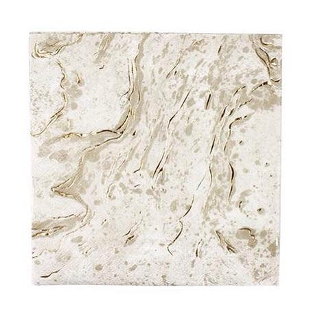 NAPKINS - LARGE PARTY PORCELAIN GOLD MARBLE