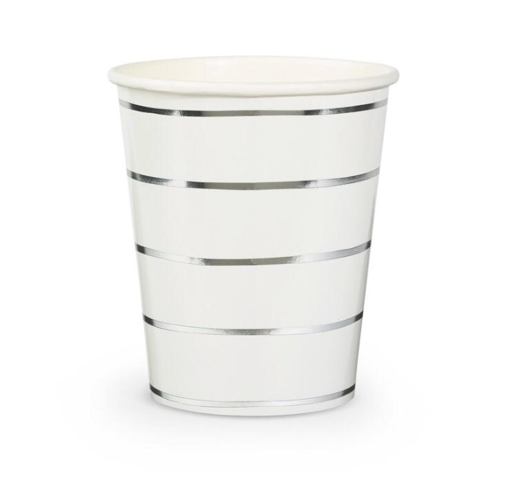 CUPS - DAYDREAM SOCIETY FRENCHIE STRIPES SILVER