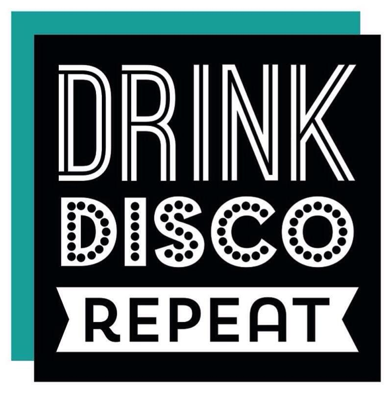 NAPKINS - COCKTAIL DRINK DISCO REPEAT