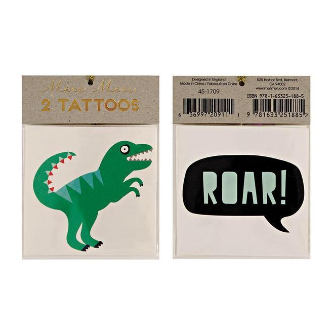 TATTOOS - DINOSAUR ROAR, Tattoos, MERI MERI - Bon + Co. Party Studio