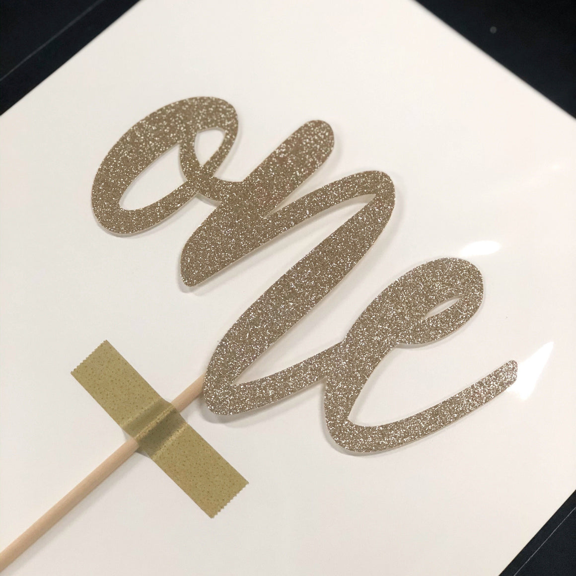 CAKE TOPPER - ONE CHAMPAGNE SPARKLE LIMITED EDITION