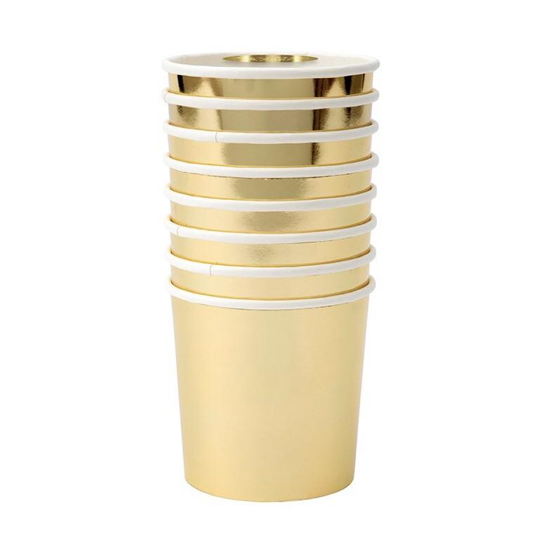 CUPS - MERI MERI TUMBLER GOLD, CUPS, MERI MERI - Bon + Co. Party Studio