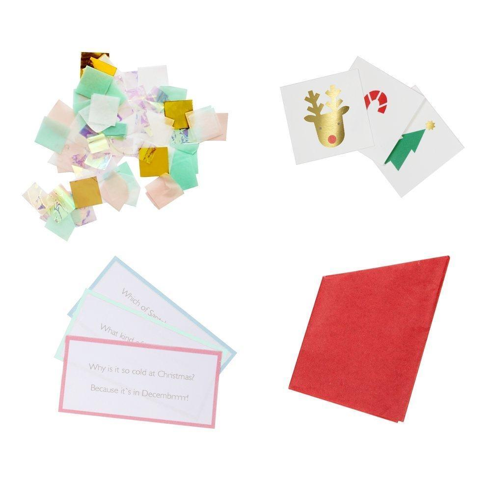 GIFTS - RAINBOW SNOWMEN CRACKERS, FAVOURS, MERI MERI - Bon + Co. Party Studio