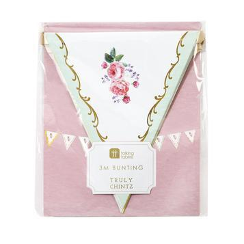 BANNER - PENNANT TRULY CHINTZ FLORAL TALKING TABLES, BANNER, TALKING TABLES - Bon + Co. Party Studio