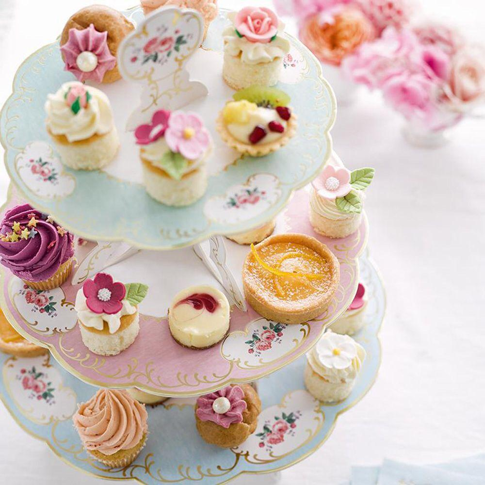 TREAT STAND - REVERSIBLE 3 TIER TALKING TABLES TRULY CHINTZ, TREAT STAND, TALKING TABLES - Bon + Co. Party Studio
