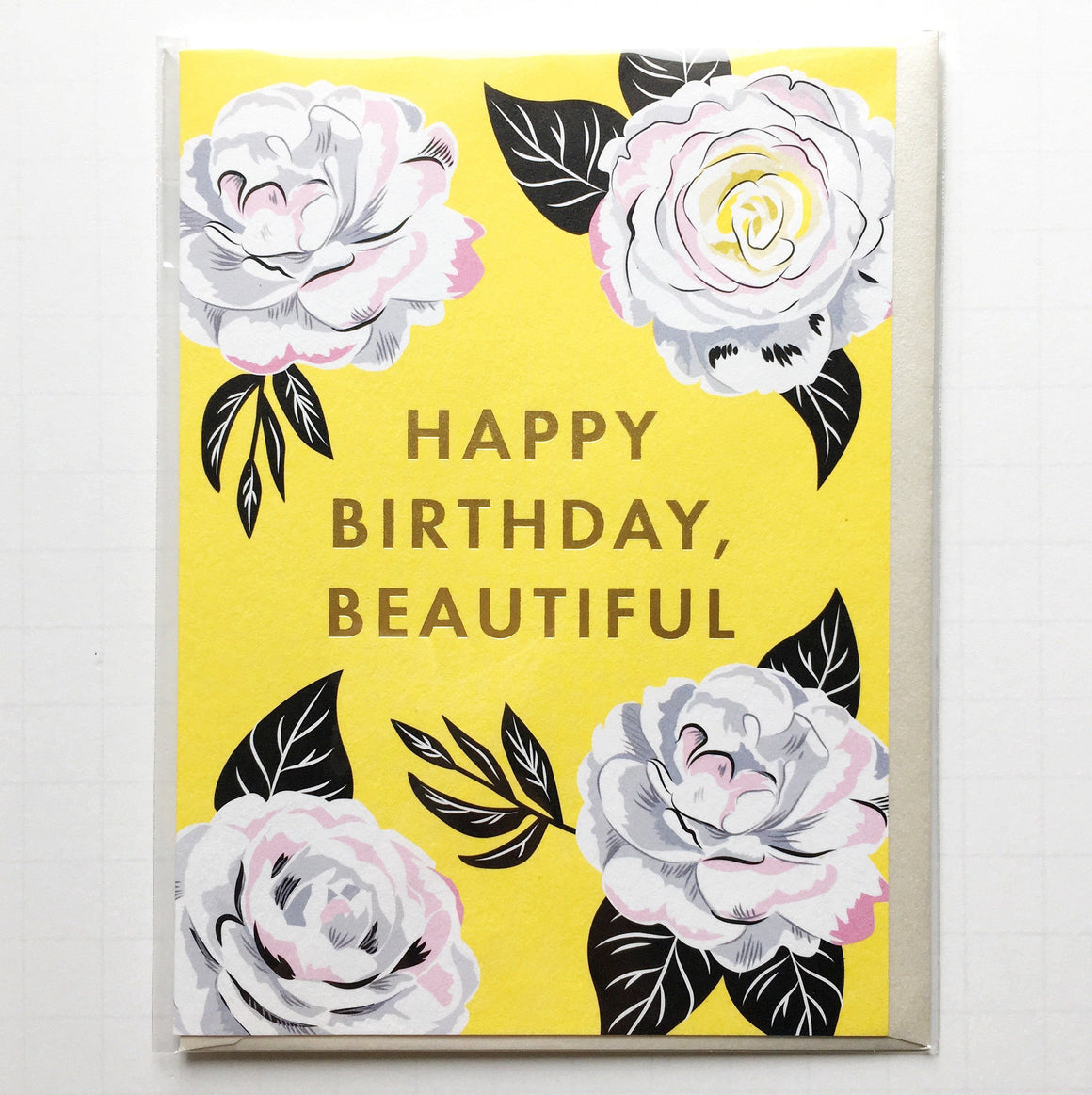 GIFT GIVING - GREETING CARD FLORAL HAPPY BIRTHDAY BEAUTIFUL