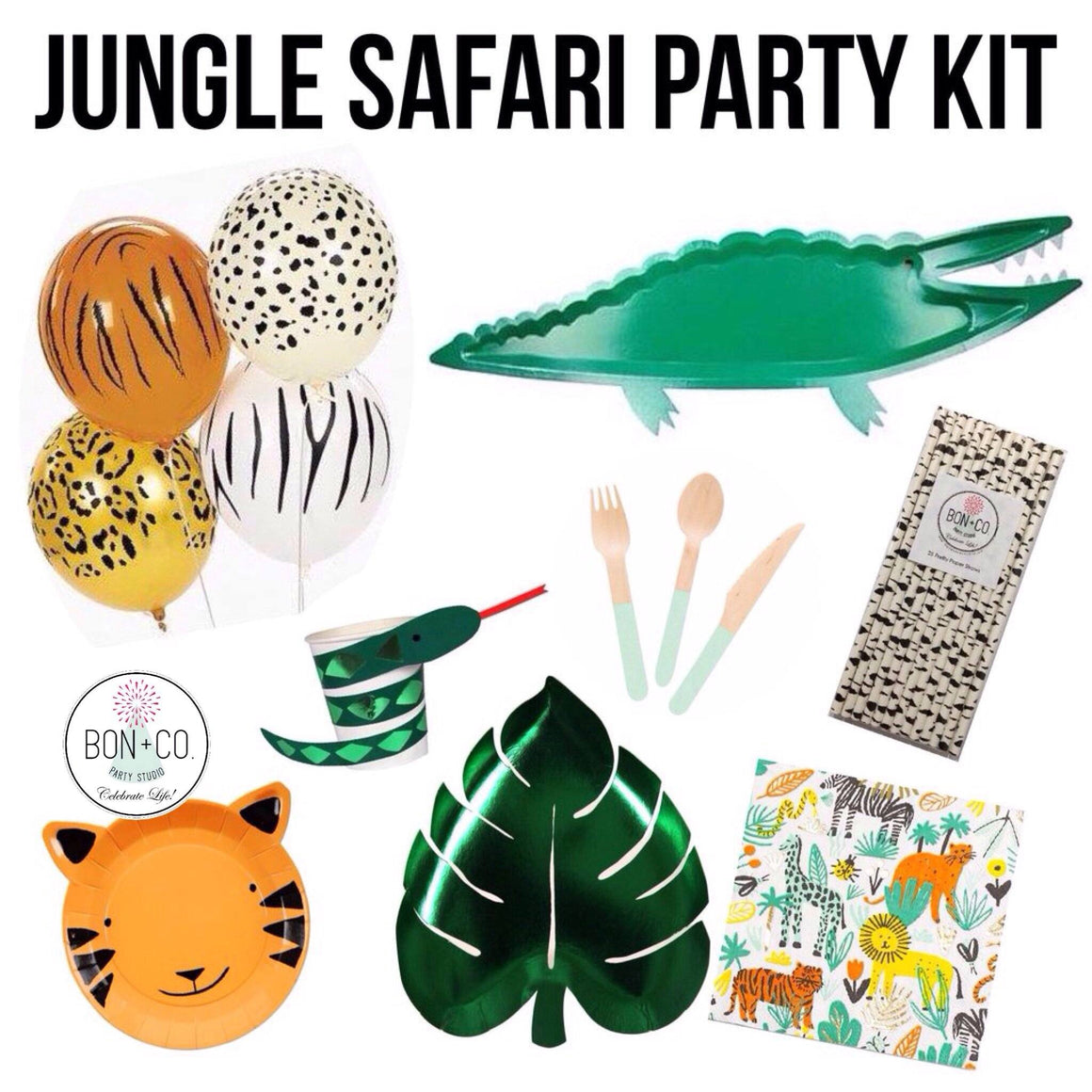 PARTY KIT - JUNGLE SAFARI, Party Kit, Bon + Co. Party Studio - Bon + Co. Party Studio