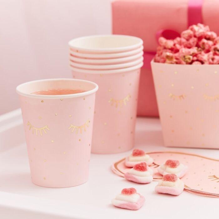 CUPS - PINK PAMPER PARTY GINGER RAY, CUPS, MERI MERI - Bon + Co. Party Studio
