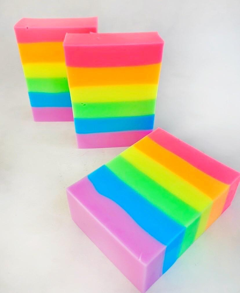 LUXURY SOAP BAR - GOOD VIBES RAINBOW, BATH, Crafted Bath - Bon + Co. Party Studio
