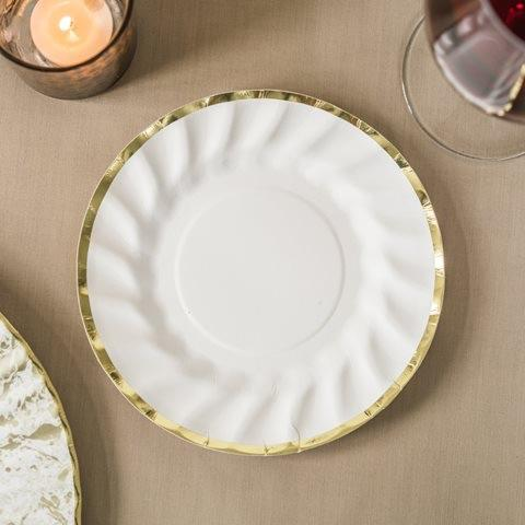 PLATES - SMALL PARTY PORCELAIN GOLD