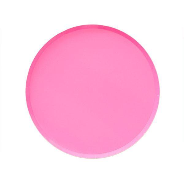 PLATES - SMALL NEON ROSE PINK OH HAPPY DAY, PLATES, Oh happy day - Bon + Co. Party Studio
