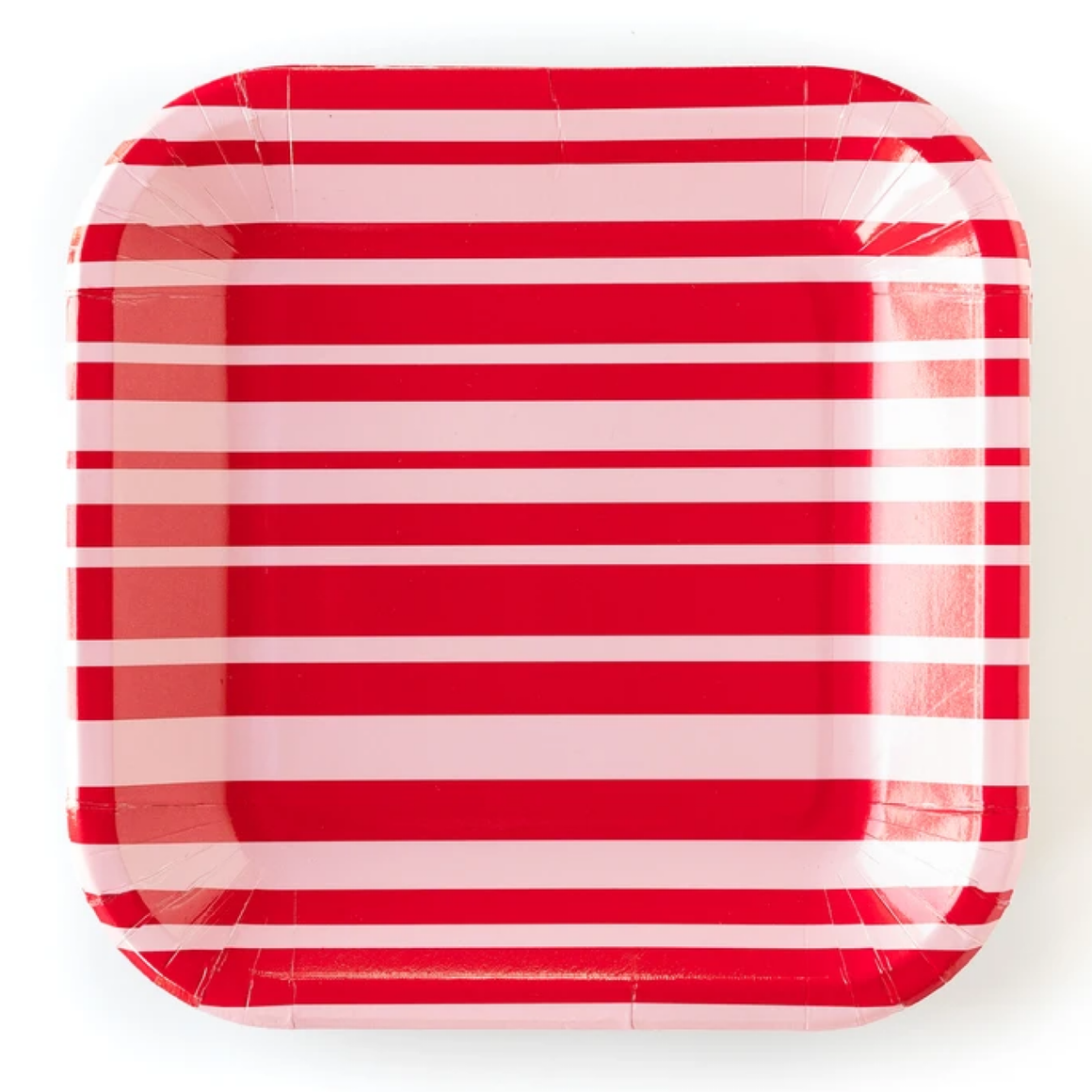 PLATES - LARGE RED & PINK STRIPES