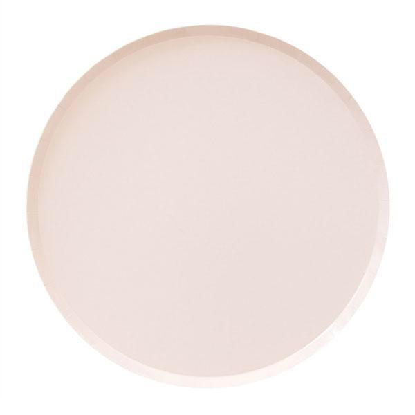 PLATES - LARGE BALLET PINK OH HAPPY DAY, PLATES, Oh happy day - Bon + Co. Party Studio