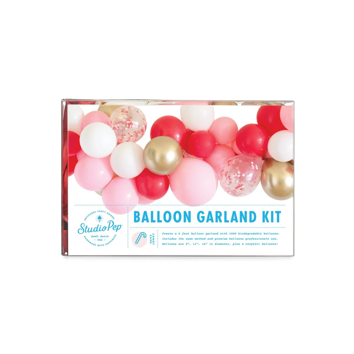 BALLOON GARLAND - CANDY CANE STUDIO PEP