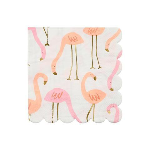 NAPKINS - COCKTAIL FLAMINGO