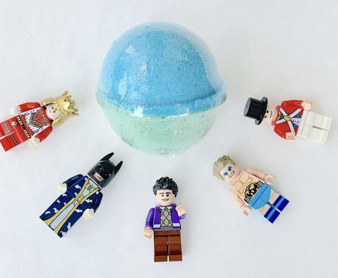 BATH FIZZY - LARGE SURPRISE TOY LEGO BLUE, BATH, Crafted Bath - Bon + Co. Party Studio