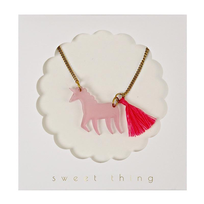 ACCESSORIES - JEWELRY UNICORN NECKLACE, ACCESSORIES, MERI MERI - Bon + Co. Party Studio