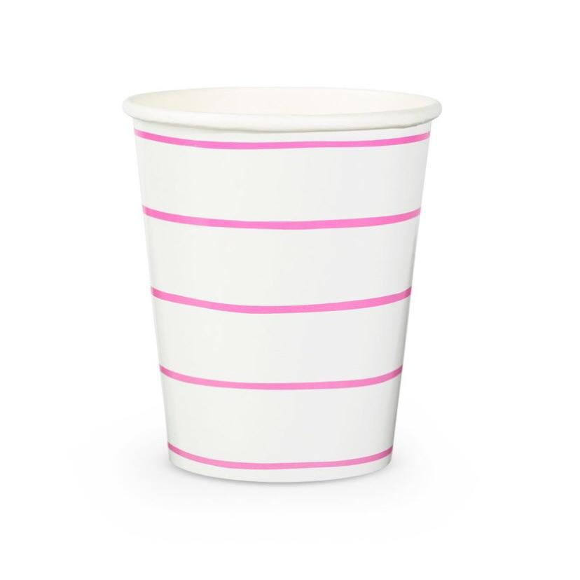 CUPS - DAYDREAM SOCIETY FRENCHIE STRIPES CERISE, CUPS, Daydream Society - Bon + Co. Party Studio