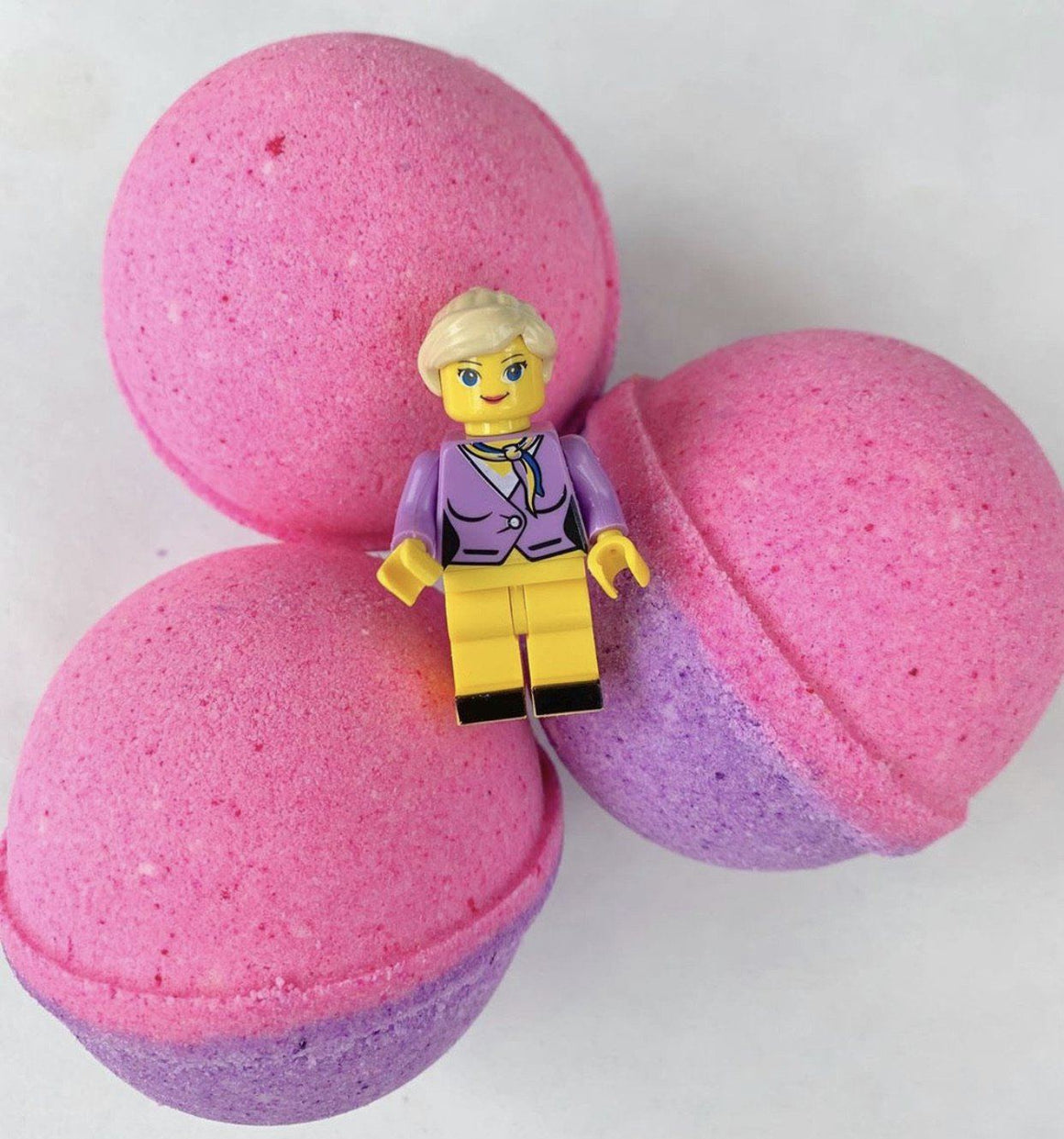 BATH FIZZY - LARGE SURPRISE TOY LEGO PINK, BATH, Crafted Bath - Bon + Co. Party Studio