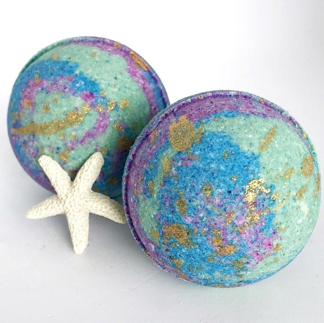 BATH FIZZY - SMALL SURPRISE TOY STARFISH WISHES, BATH, Crafted Bath - Bon + Co. Party Studio